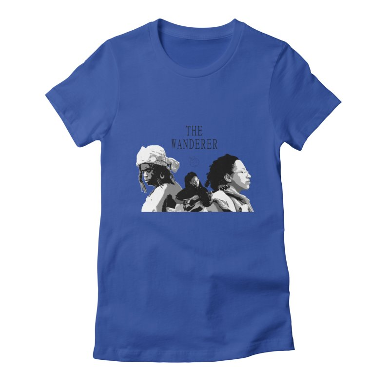 The Wanderer - Grayscale Women's Fitted T-Shirt by Strange Froots Merch