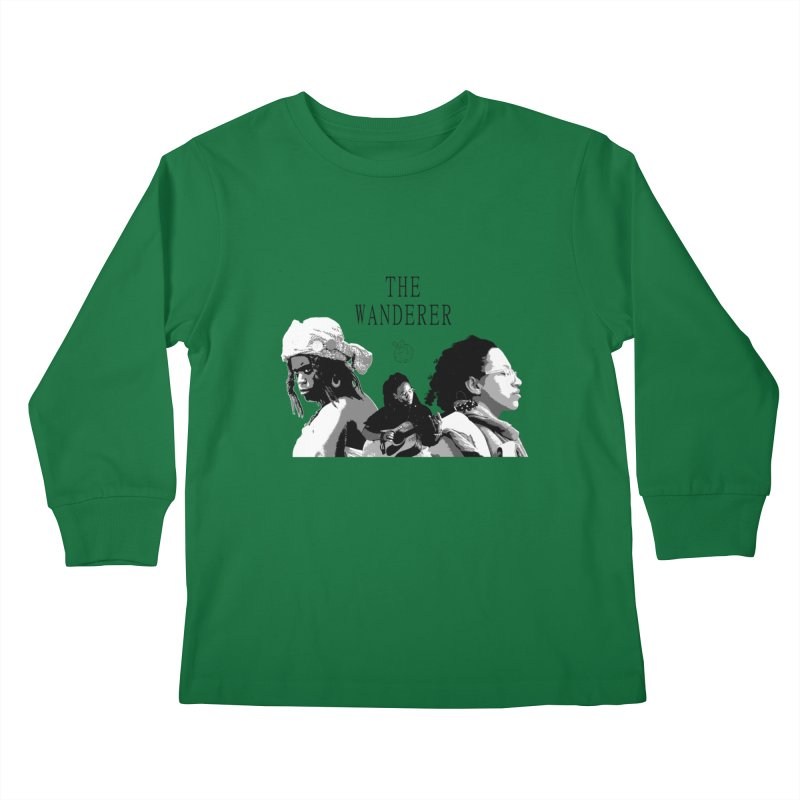 The Wanderer - Grayscale Kids Longsleeve T-Shirt by Strange Froots Merch
