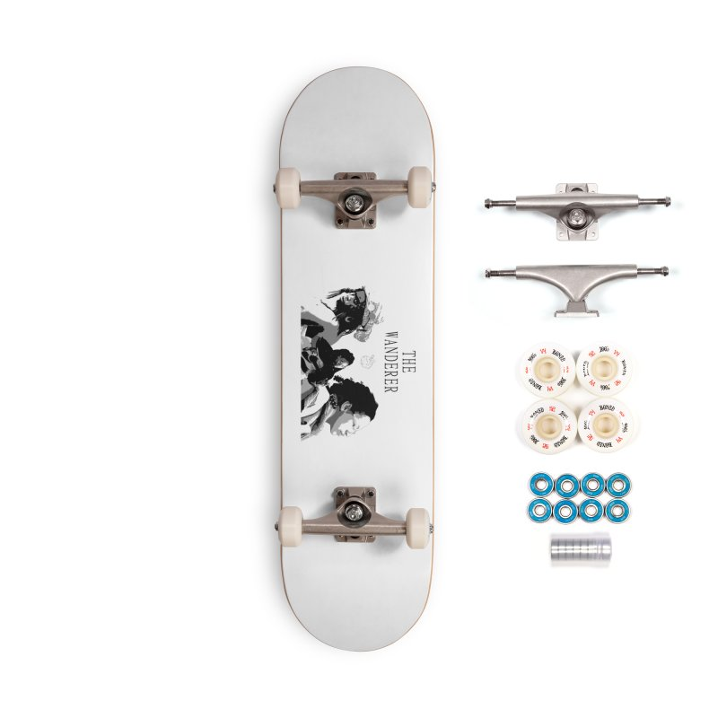 The Wanderer - Grayscale Accessories Complete - Premium Skateboard by Strange Froots Merch