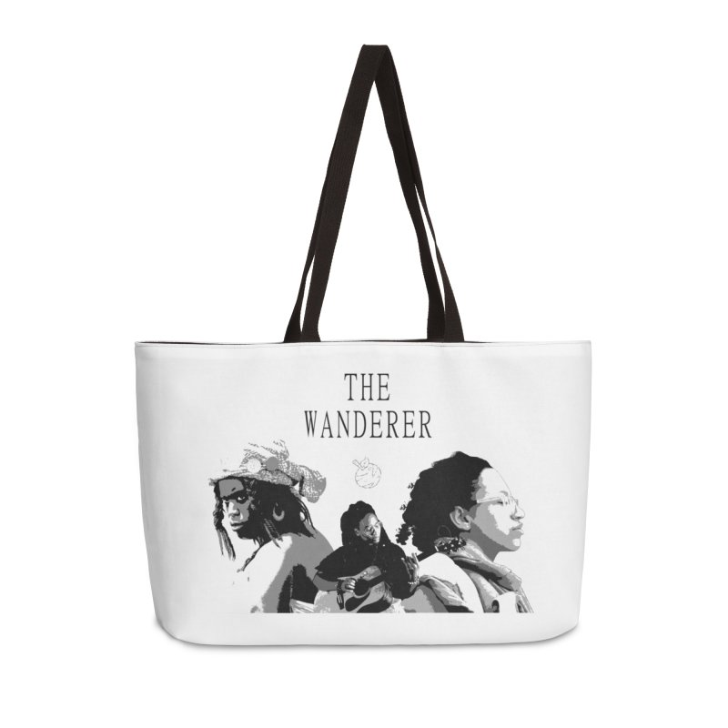 The Wanderer - Grayscale Accessories Weekender Bag Bag by Strange Froots Merch