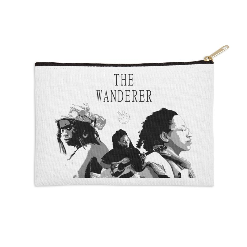 The Wanderer - Grayscale Accessories Zip Pouch by Strange Froots Merch