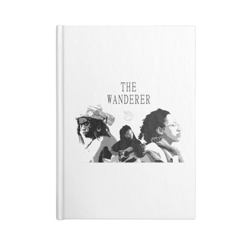 The Wanderer - Grayscale Accessories Lined Journal Notebook by Strange Froots Merch