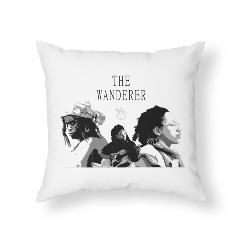 The Wanderer - Grayscale Home Throw Pillow by Strange Froots Merch