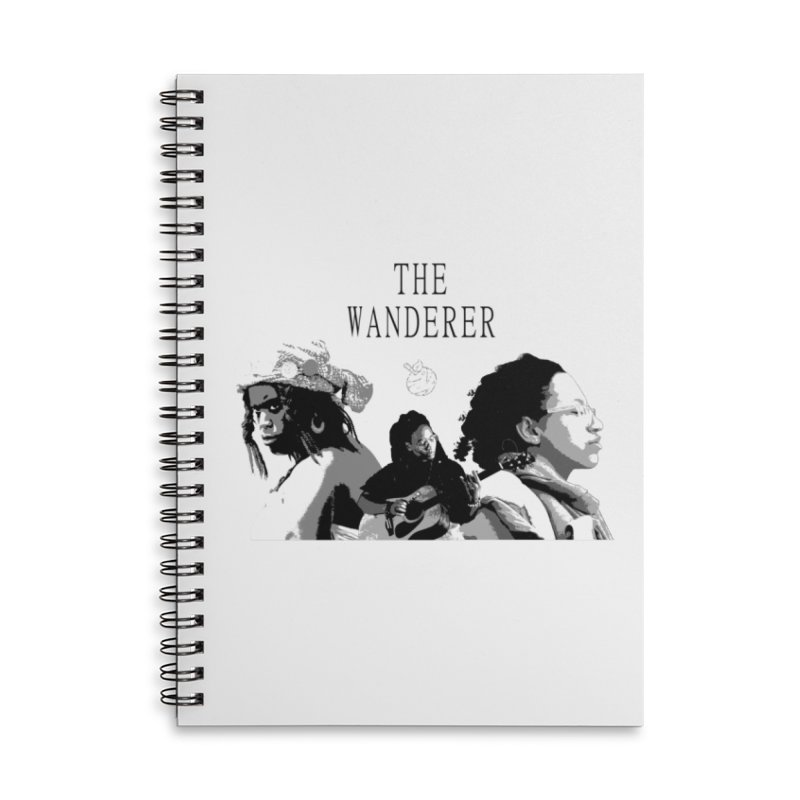 The Wanderer - Grayscale Accessories Lined Spiral Notebook by Strange Froots Merch