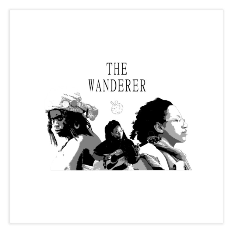 The Wanderer - Grayscale Home Fine Art Print by Strange Froots Merch