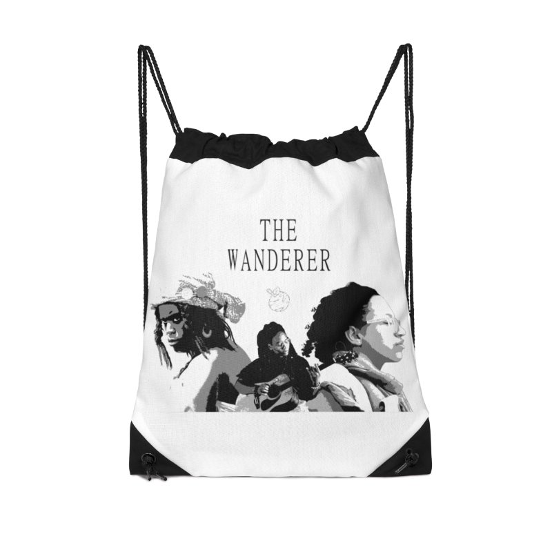 The Wanderer - Grayscale Accessories Drawstring Bag Bag by Strange Froots Merch