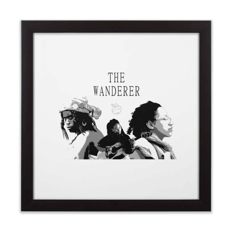 The Wanderer - Grayscale Home Framed Fine Art Print by Strange Froots Merch