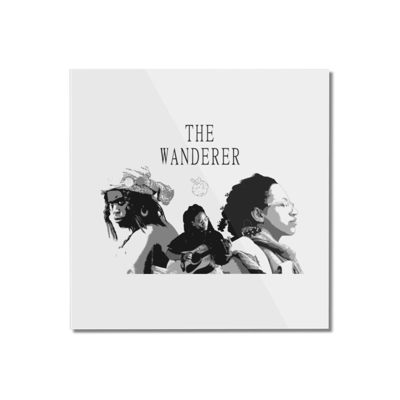 The Wanderer - Grayscale Home Mounted Acrylic Print by Strange Froots Merch