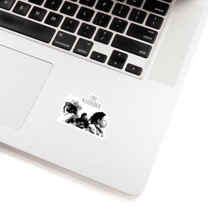 The Wanderer - Grayscale Accessories Sticker by Strange Froots Merch