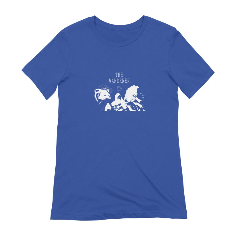 The Wanderer - Monochromatic White Women's Extra Soft T-Shirt by Strange Froots Merch