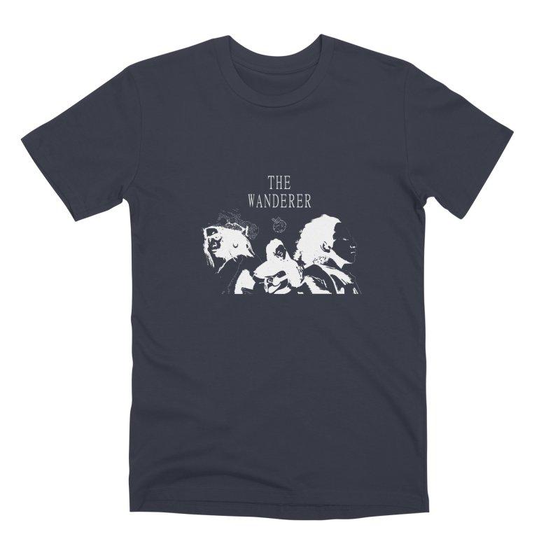 The Wanderer - Monochromatic White Men's Premium T-Shirt by Strange Froots Merch