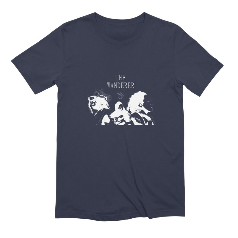 The Wanderer - Monochromatic White Men's Extra Soft T-Shirt by Strange Froots Merch