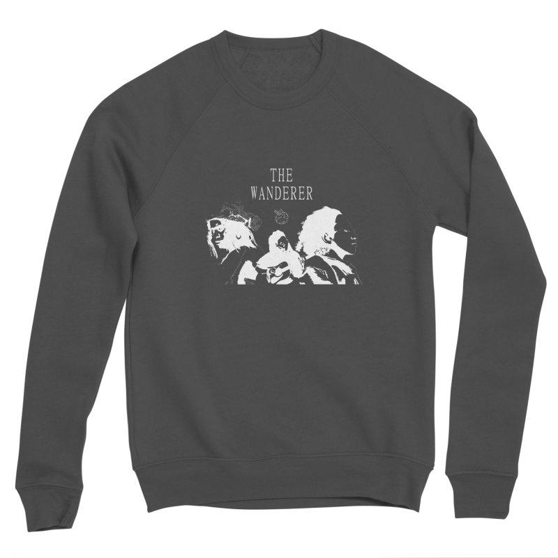 The Wanderer - Monochromatic White Men's Sponge Fleece Sweatshirt by Strange Froots Merch