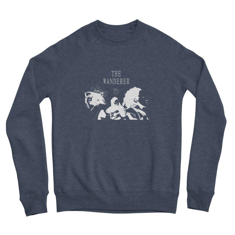 The Wanderer - Monochromatic White Women's Sponge Fleece Sweatshirt by Strange Froots Merch