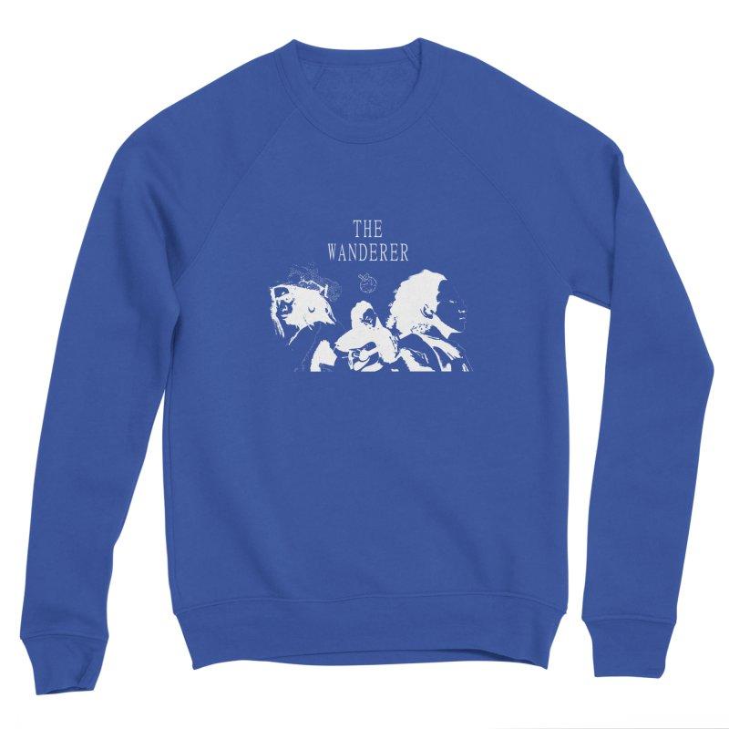 The Wanderer - Monochromatic White Men's Sweatshirt by Strange Froots Merch