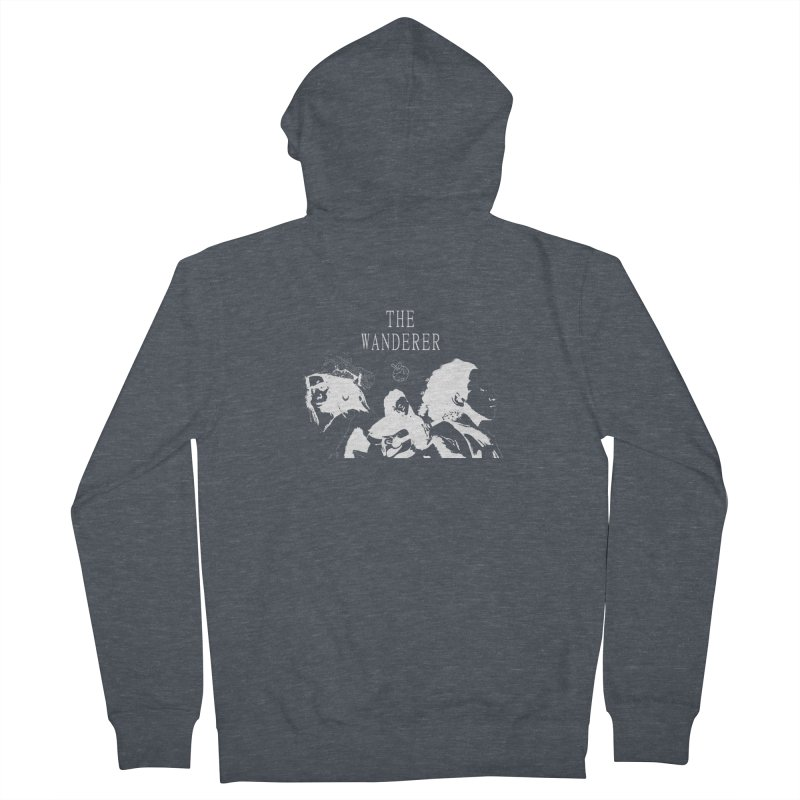 The Wanderer - Monochromatic White Women's French Terry Zip-Up Hoody by Strange Froots Merch