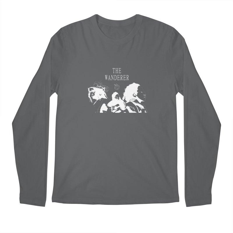 The Wanderer - Monochromatic White Men's Regular Longsleeve T-Shirt by Strange Froots Merch