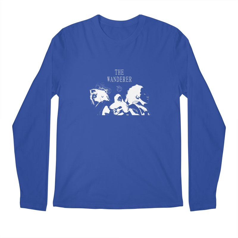 The Wanderer - Monochromatic White Men's Regular Longsleeve T-Shirt by Strange Froots Merch