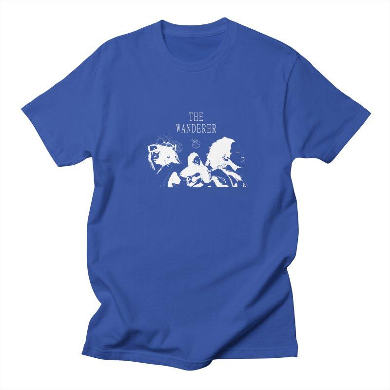The Wanderer - Monochromatic White Men's Regular T-Shirt by Strange Froots Merch