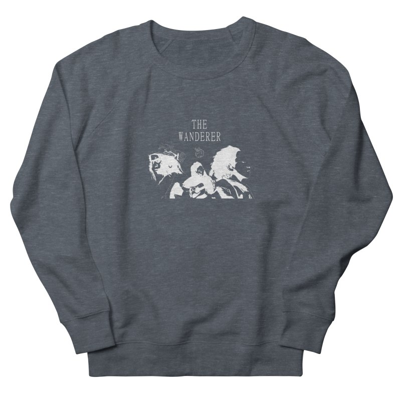 The Wanderer - Monochromatic White Women's French Terry Sweatshirt by Strange Froots Merch