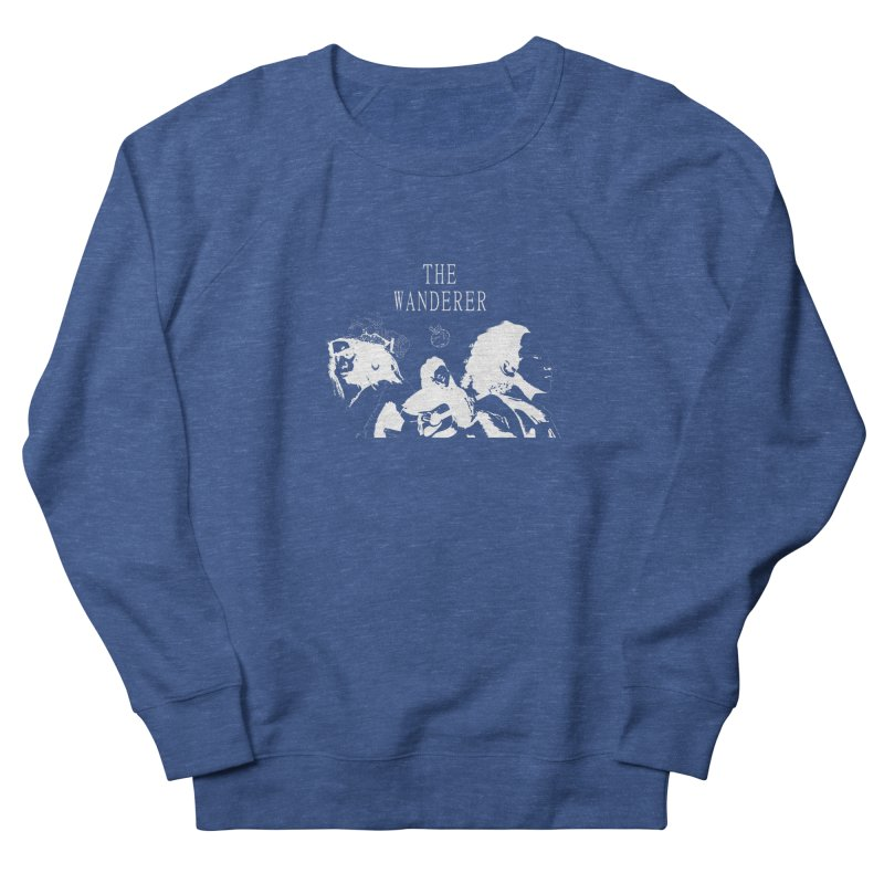 The Wanderer - Monochromatic White Men's French Terry Sweatshirt by Strange Froots Merch