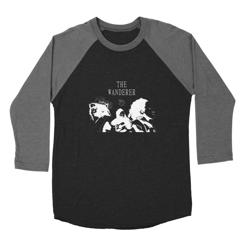 The Wanderer - Monochromatic White Men's Baseball Triblend Longsleeve T-Shirt by Strange Froots Merch