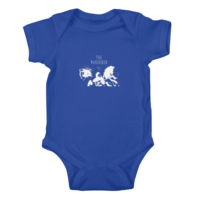 The Wanderer - Monochromatic White Kids Baby Bodysuit by Strange Froots Merch