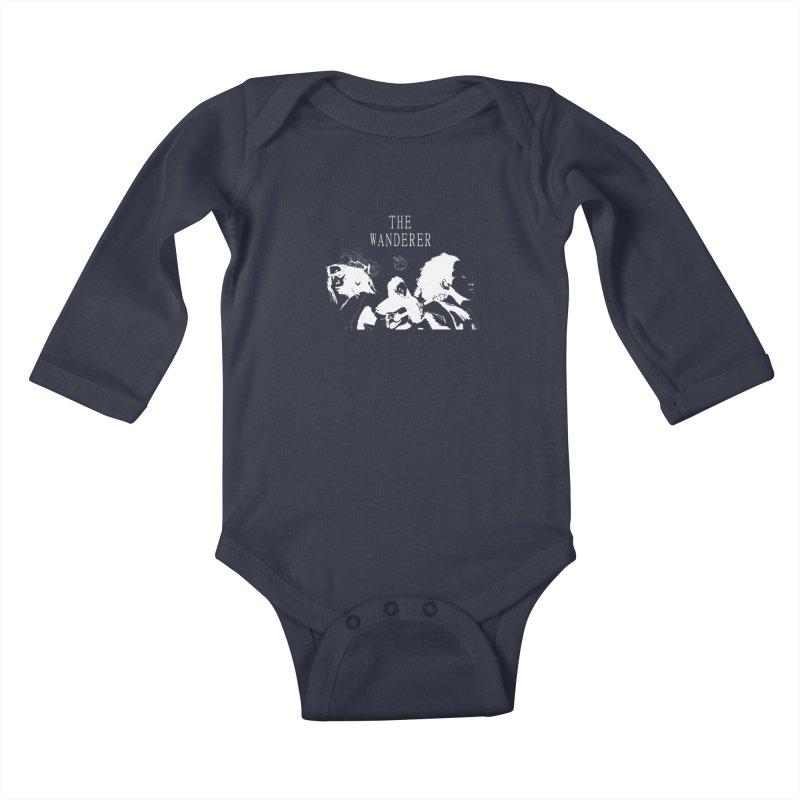 The Wanderer - Monochromatic White Kids Baby Longsleeve Bodysuit by Strange Froots Merch
