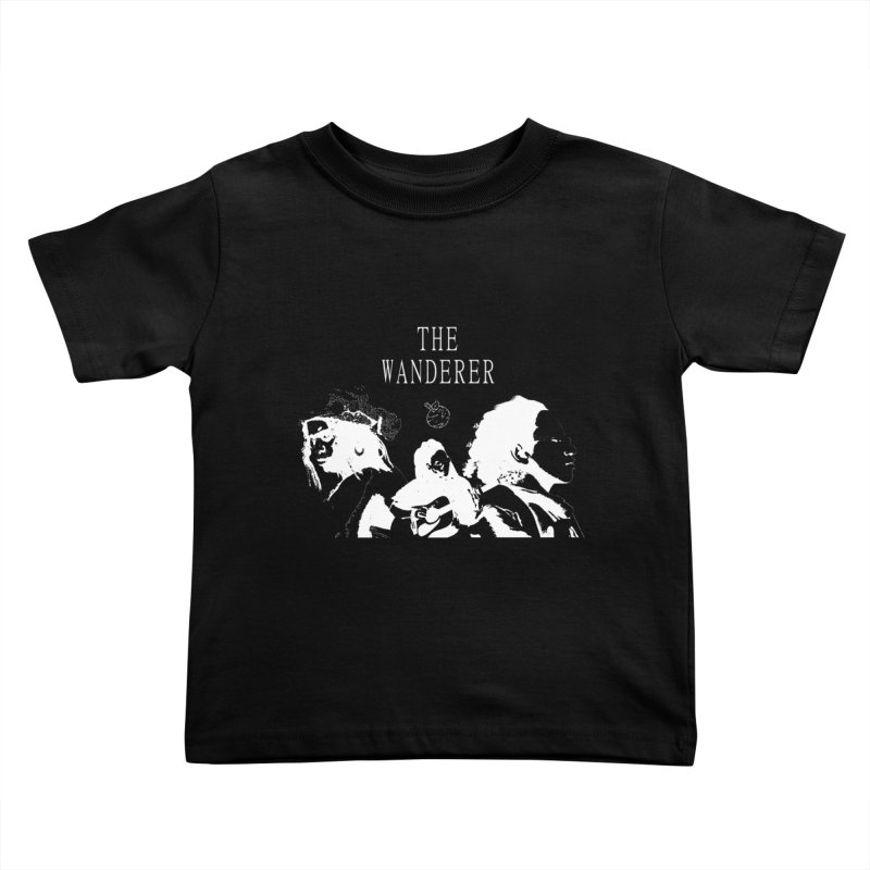 The Wanderer - Monochromatic White Kids Toddler T-Shirt by Strange Froots Merch