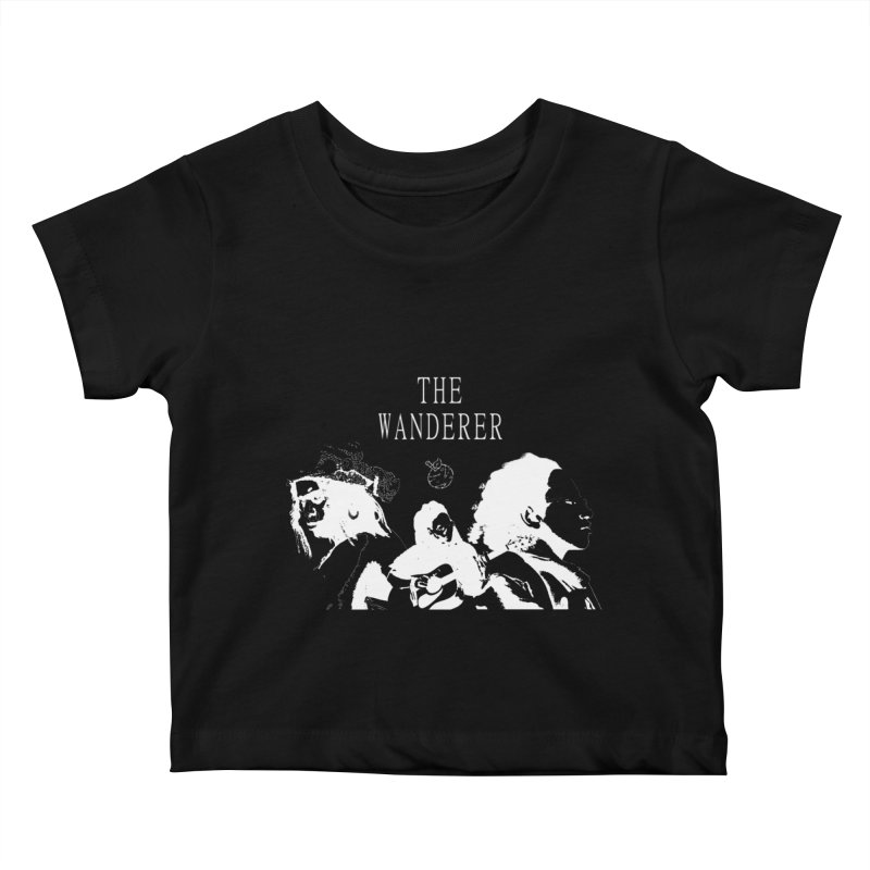 The Wanderer - Monochromatic White Kids Baby T-Shirt by Strange Froots Merch