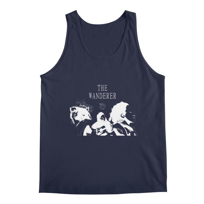 The Wanderer - Monochromatic White Men's Regular Tank by Strange Froots Merch