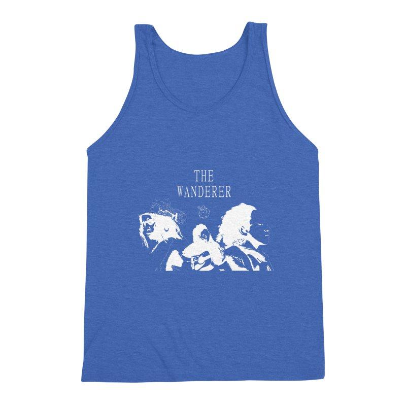 The Wanderer - Monochromatic White Men's Triblend Tank by Strange Froots Merch