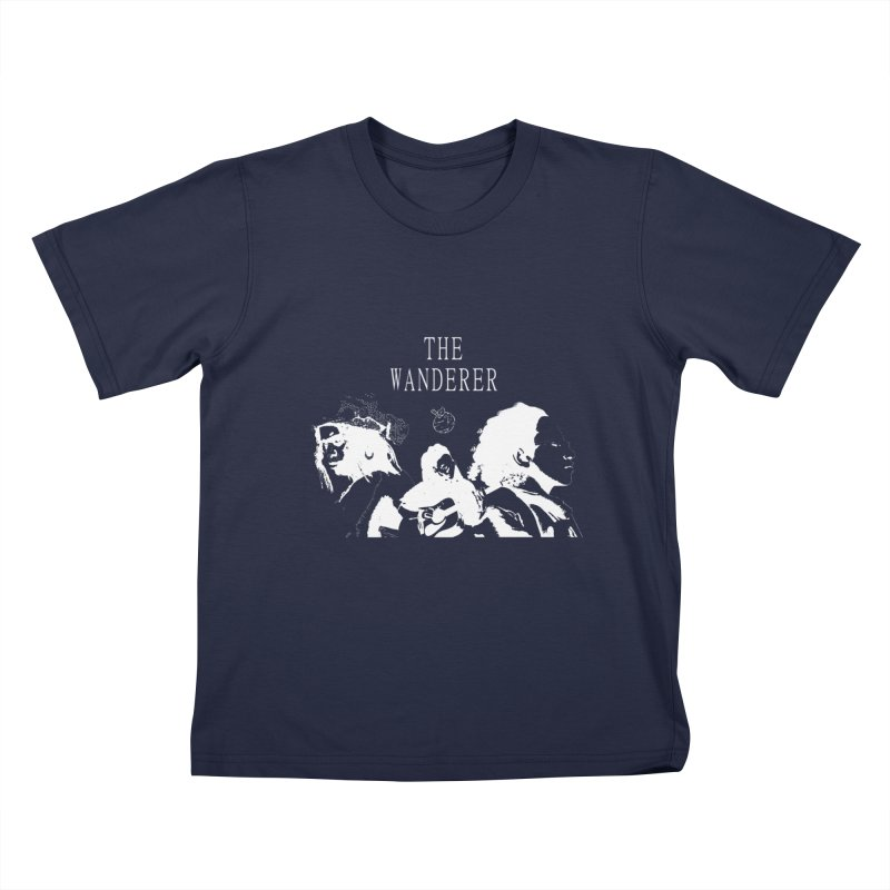 The Wanderer - Monochromatic White Kids T-Shirt by Strange Froots Merch