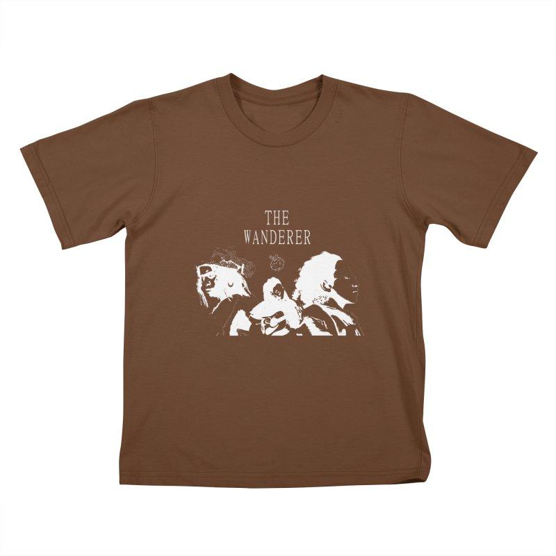 The Wanderer - Monochromatic White Kids T-Shirt by Strange Froots Merch