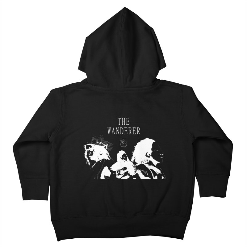 The Wanderer - Monochromatic White Kids Toddler Zip-Up Hoody by Strange Froots Merch