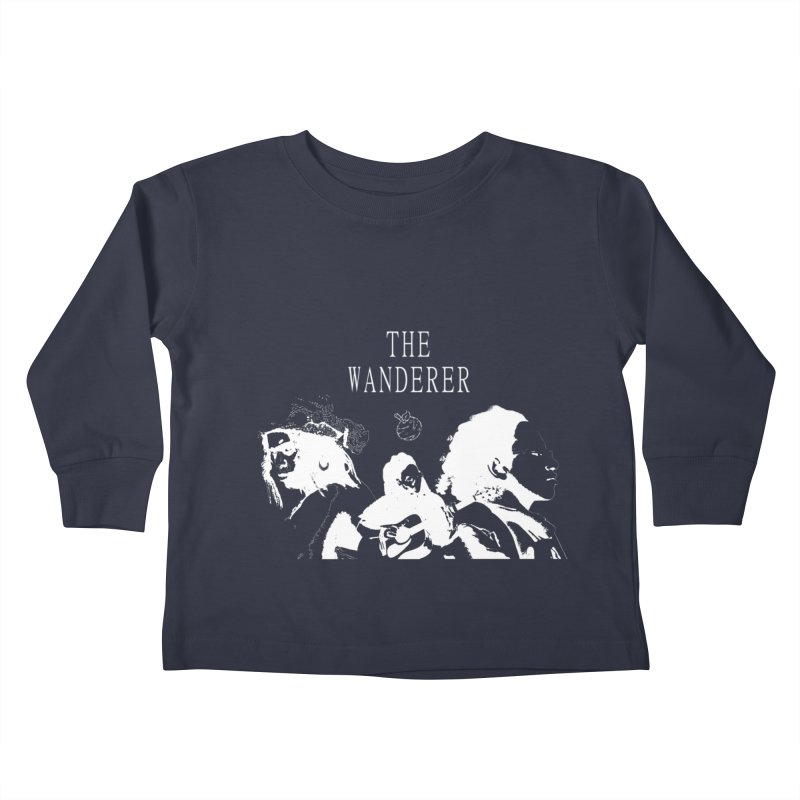 The Wanderer - Monochromatic White Kids Toddler Longsleeve T-Shirt by Strange Froots Merch