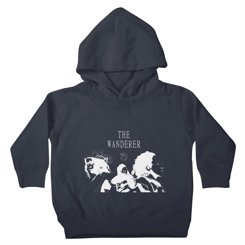 The Wanderer - Monochromatic White Kids Toddler Pullover Hoody by Strange Froots Merch