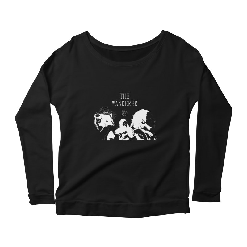 The Wanderer - Monochromatic White Women's Scoop Neck Longsleeve T-Shirt by Strange Froots Merch