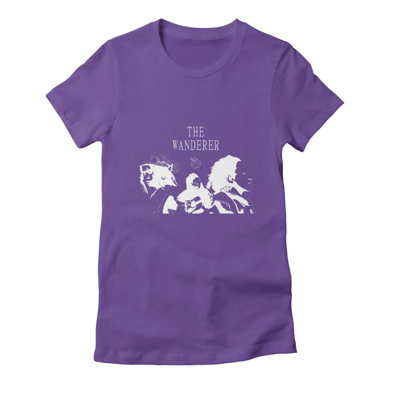 The Wanderer - Monochromatic White Women's Fitted T-Shirt by Strange Froots Merch