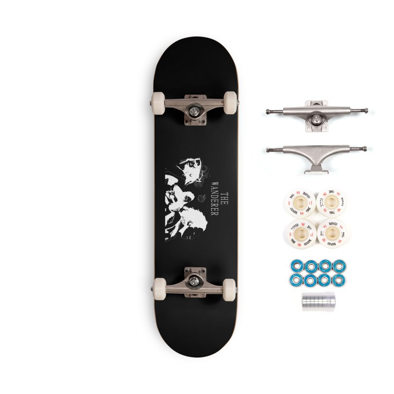 The Wanderer - Monochromatic White Accessories Complete - Premium Skateboard by Strange Froots Merch