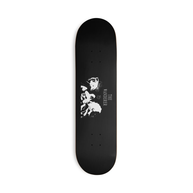 The Wanderer - Monochromatic White Accessories Deck Only Skateboard by Strange Froots Merch