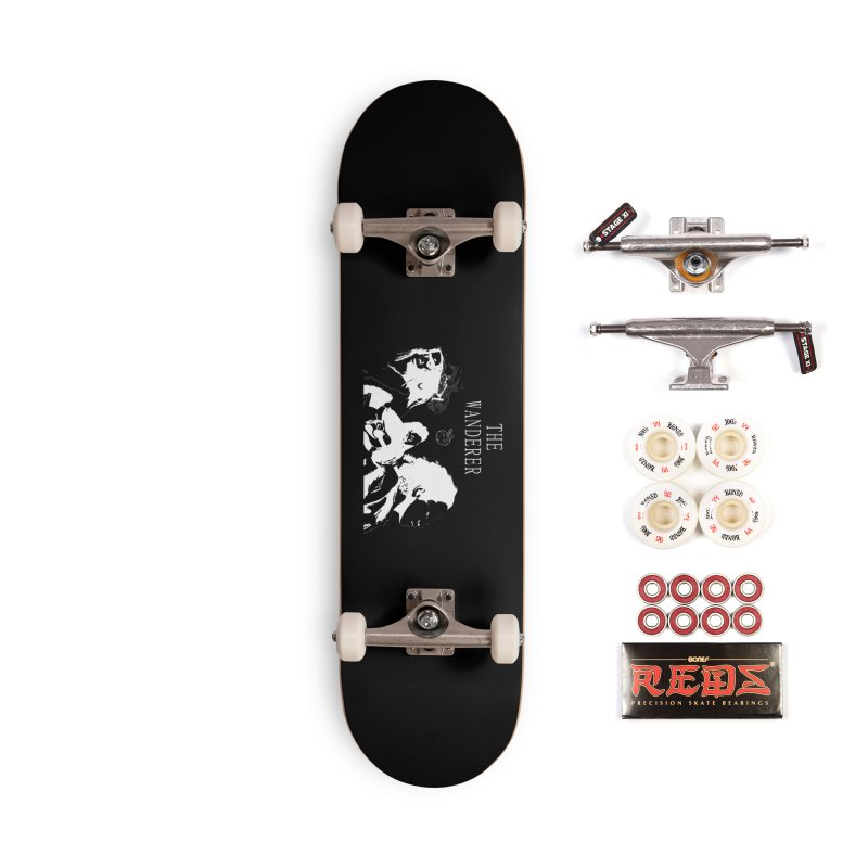 The Wanderer - Monochromatic White Accessories Complete - Pro Skateboard by Strange Froots Merch