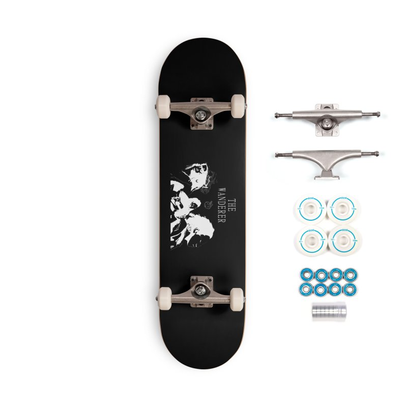The Wanderer - Monochromatic White Accessories Complete - Basic Skateboard by Strange Froots Merch
