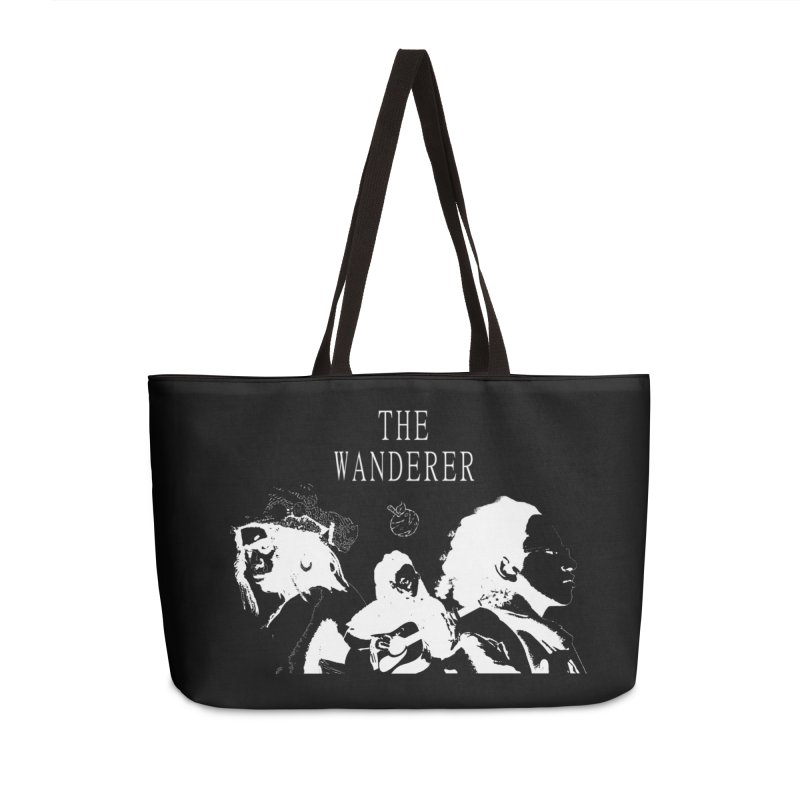 The Wanderer - Monochromatic White Accessories Weekender Bag Bag by Strange Froots Merch