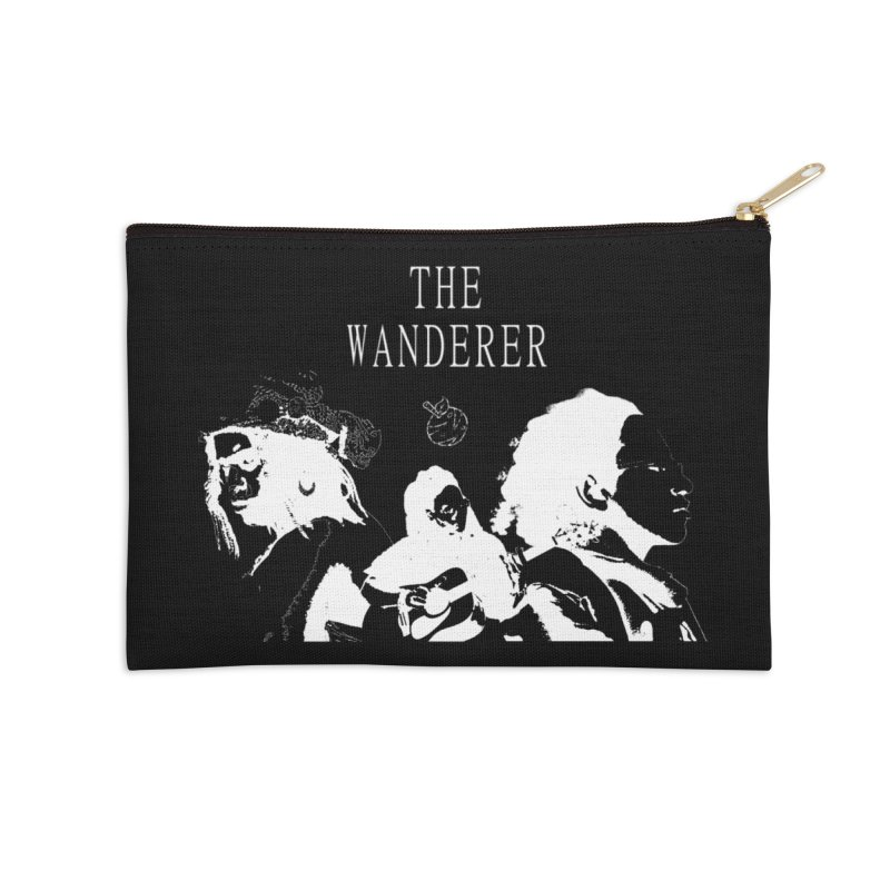 The Wanderer - Monochromatic White Accessories Zip Pouch by Strange Froots Merch