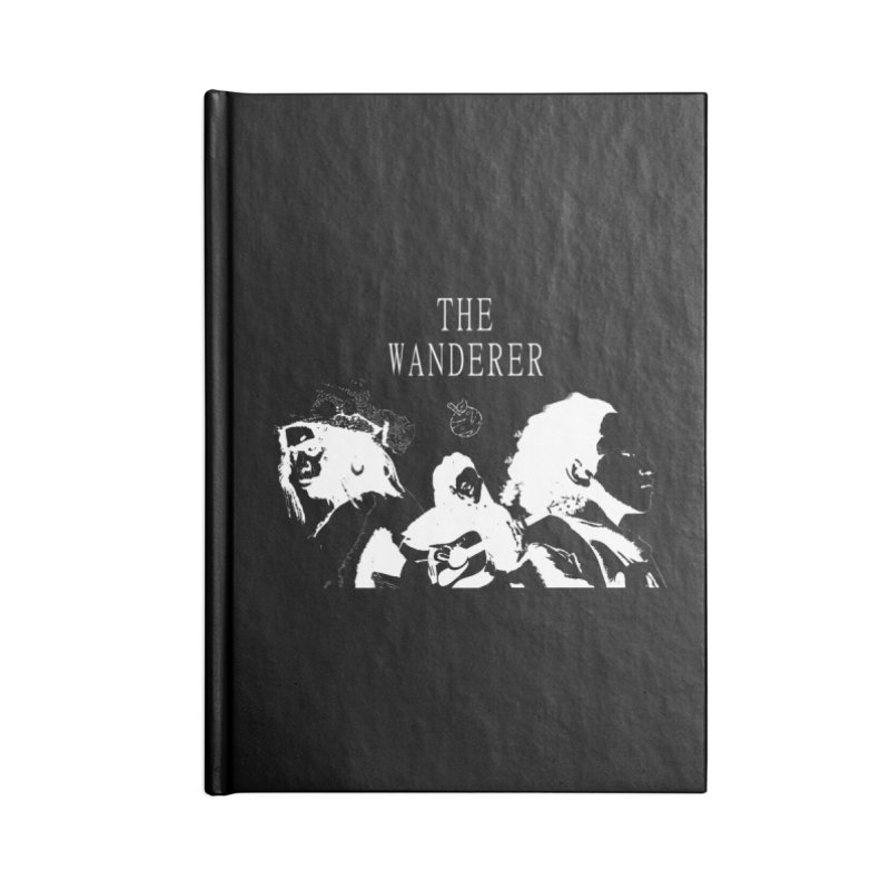 The Wanderer - Monochromatic White Accessories Lined Journal Notebook by Strange Froots Merch