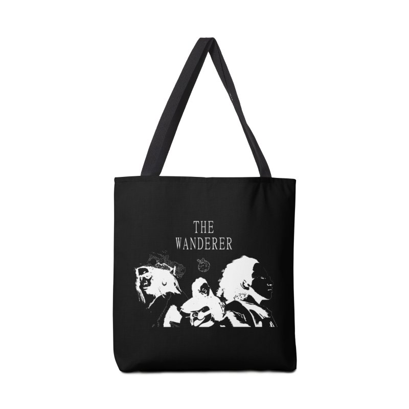 The Wanderer - Monochromatic White Accessories Tote Bag Bag by Strange Froots Merch