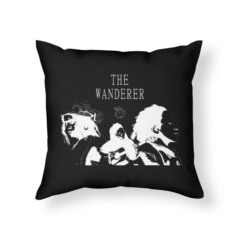 The Wanderer - Monochromatic White Home Throw Pillow by Strange Froots Merch