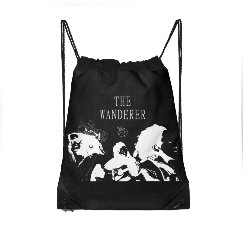The Wanderer - Monochromatic White Accessories Drawstring Bag Bag by Strange Froots Merch