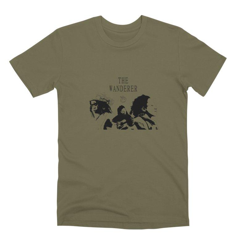 The Wanderer - Monochromatic Black Men's Premium T-Shirt by Strange Froots Merch